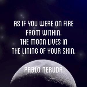 moon skin pablo neruda